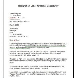Resignation Letter due to Poor Management