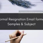 Formal Resignation Email