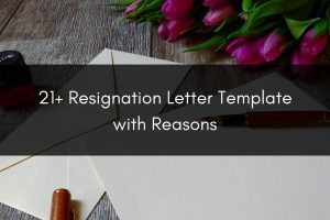 over 21 resignation letter templates with reasons