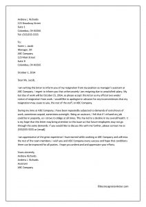 resignation letter for unsatisfied salary