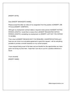 sample of resignation letter with immediate effect